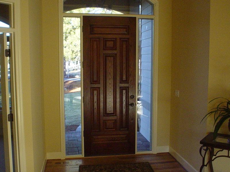 Stained fiberglass door